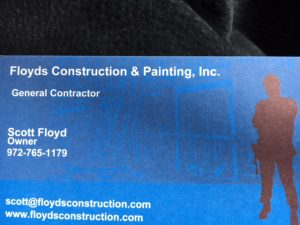 Floyd Construction & Painting ~ Scott Floyd [Owner] 972-765-1179
